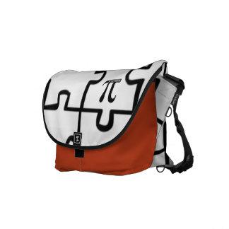 Pi Puzzle Rickshaw Messenger Laptop Book Bag Messenger Bags