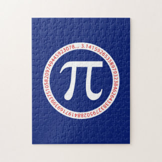 Pi Ring on Navy Blue Jigsaw Puzzle