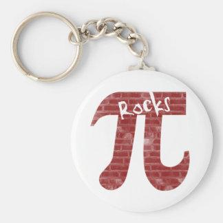 Pi Rocks Keychain