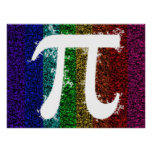 Pi Sign Electric Poster