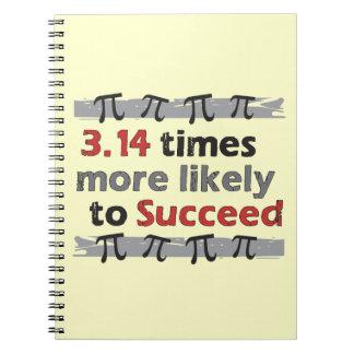 Pi Success - Funny Math Pi Spiral Notebooks