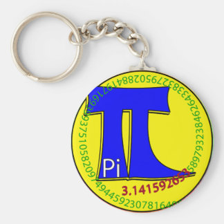 Pi Symbol 3.14 Ultimate Basic Round Button Keychain