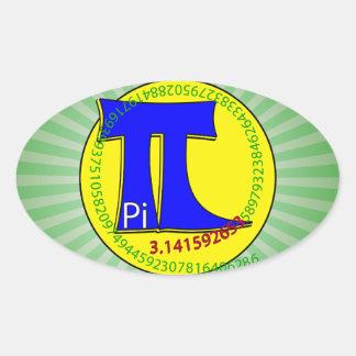 Pi Symbol 3.14 Ultimate Oval Sticker