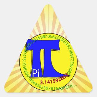 Pi Symbol 3.14 Ultimate Triangle Sticker