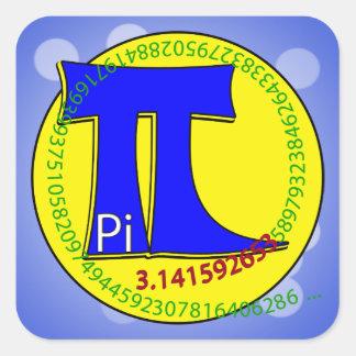 Pi Symbol 3.14 Ultimate Square Sticker