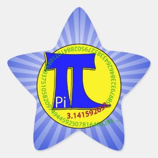 Pi Symbol 3.14 Ultimate Star Sticker
