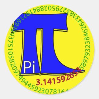 Pi Symbol 3.14 Ultimate Round Sticker