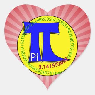 Pi Symbol 3.14 Ultimate Heart Sticker