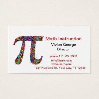 Pi Symbol Action Painting Splatter Business Card