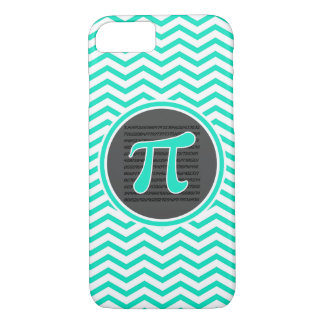 Pi symbol; Aqua Green Chevron iPhone 8/7 Case