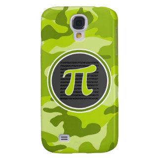Pi symbol bright green camo camouflage samsung galaxy s4 covers