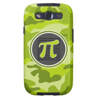 Pi symbol bright green camo camouflage samsung galaxy s3 covers