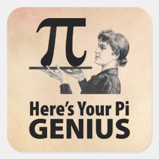 Pi Symbol Humor Square Sticker