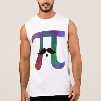 Pi Symbol Mustache Sleeveless Shirt
