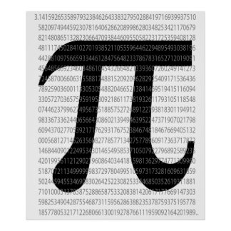 Pi symbol of maths poster