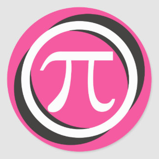 Pi Symbol Stickers - PINK Pi Day Gift