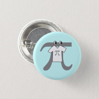 Pi wearing Pi 1 Inch Round Button