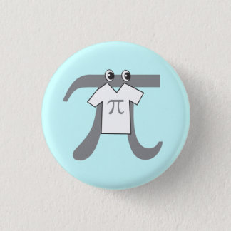 Pi wearing Pi 1 Inch Round Button