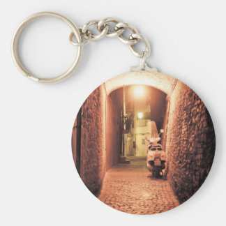 Piaggio scooter in Italy Basic Round Button Keychain