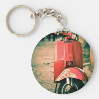 Piaggio Scooter in Italy Key Chain