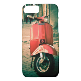 Piaggio scooter, Red in Italy, Rome iPhone 7 Case