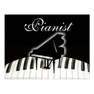 Pianist and Keyboard Postcard