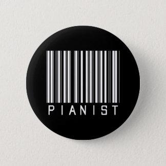 Pianist Bar Code 2 Inch Round Button