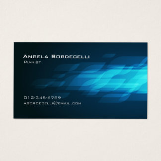 Pianist Business Card Flashback