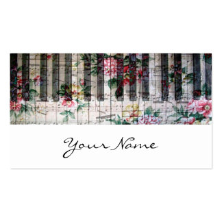 pianist keyboard girly vintage music profile card pack of standard business cards
