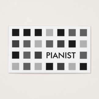 PIANIST (mod squares) Business Card