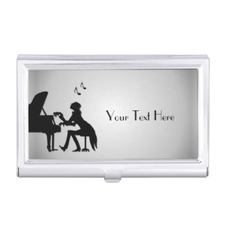 Pianist Personalized Business Card Case