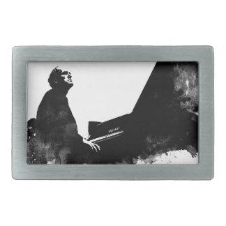 pianist rectangular belt buckle