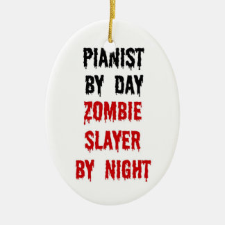 Pianist Zombie Slayer Ceramic Ornament