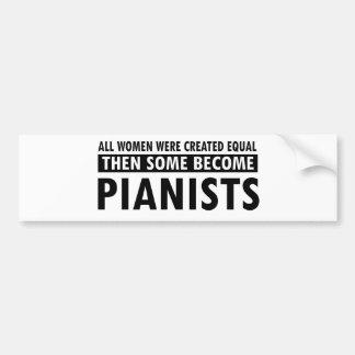Pianists music designs bumper sticker