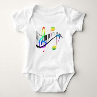 Piano 02 baby bodysuit
