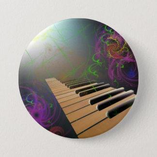 piano 3 inch round button
