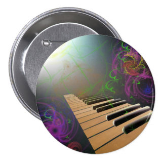 piano 3 inch round button