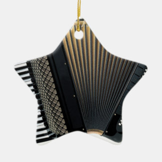 Piano Accordion Ceramic Ornament