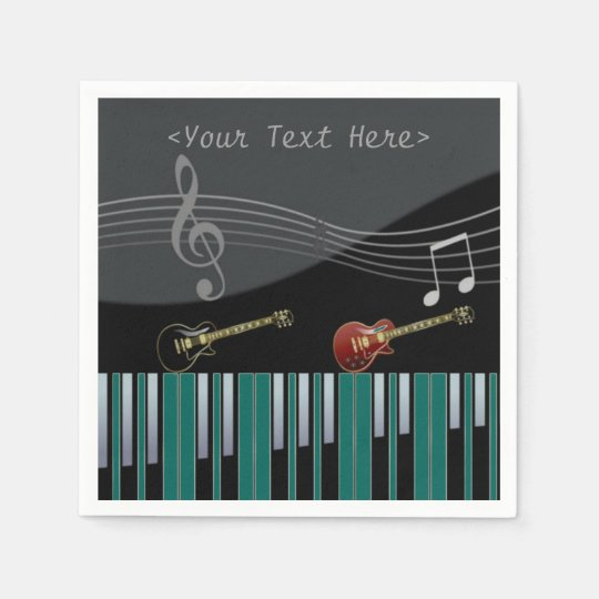 Piano and Guitar Music Notes Napkins Disposable Napkins