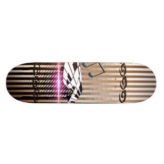 Piano and key notes skate board decks