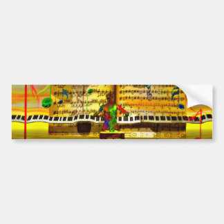 Piano art bumper sticker
