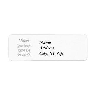 Piano Attitude! Return Address Label