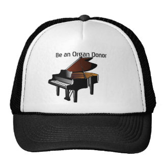 Piano Be an Organ Donor Trucker Hat