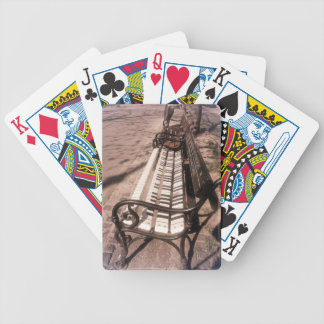Piano bench bicycle playing cards