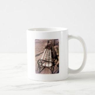 Piano bench coffee mug