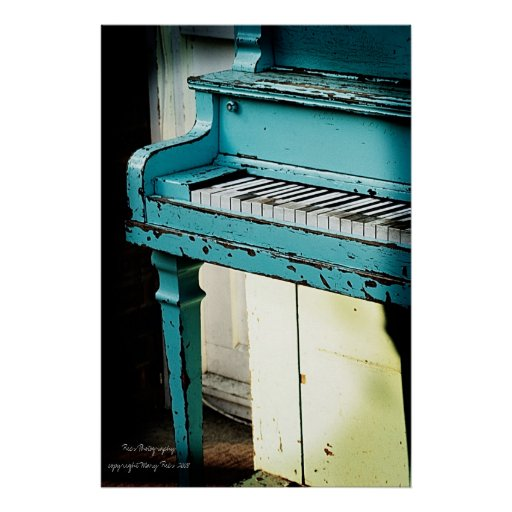 Piano bleu affiche