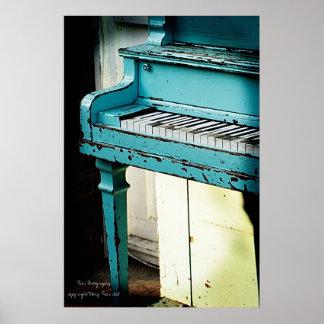 Piano bleu poster