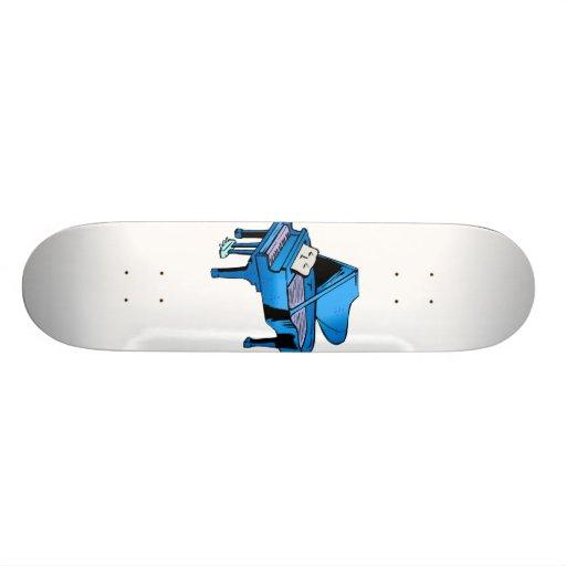 Piano Blue With Face Piano Graphic Design Custom Skate Board