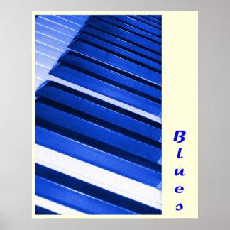 Piano Blues Poster