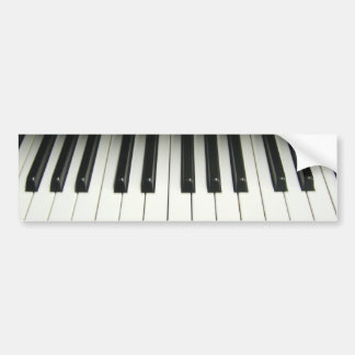 Piano Bumper Sticker